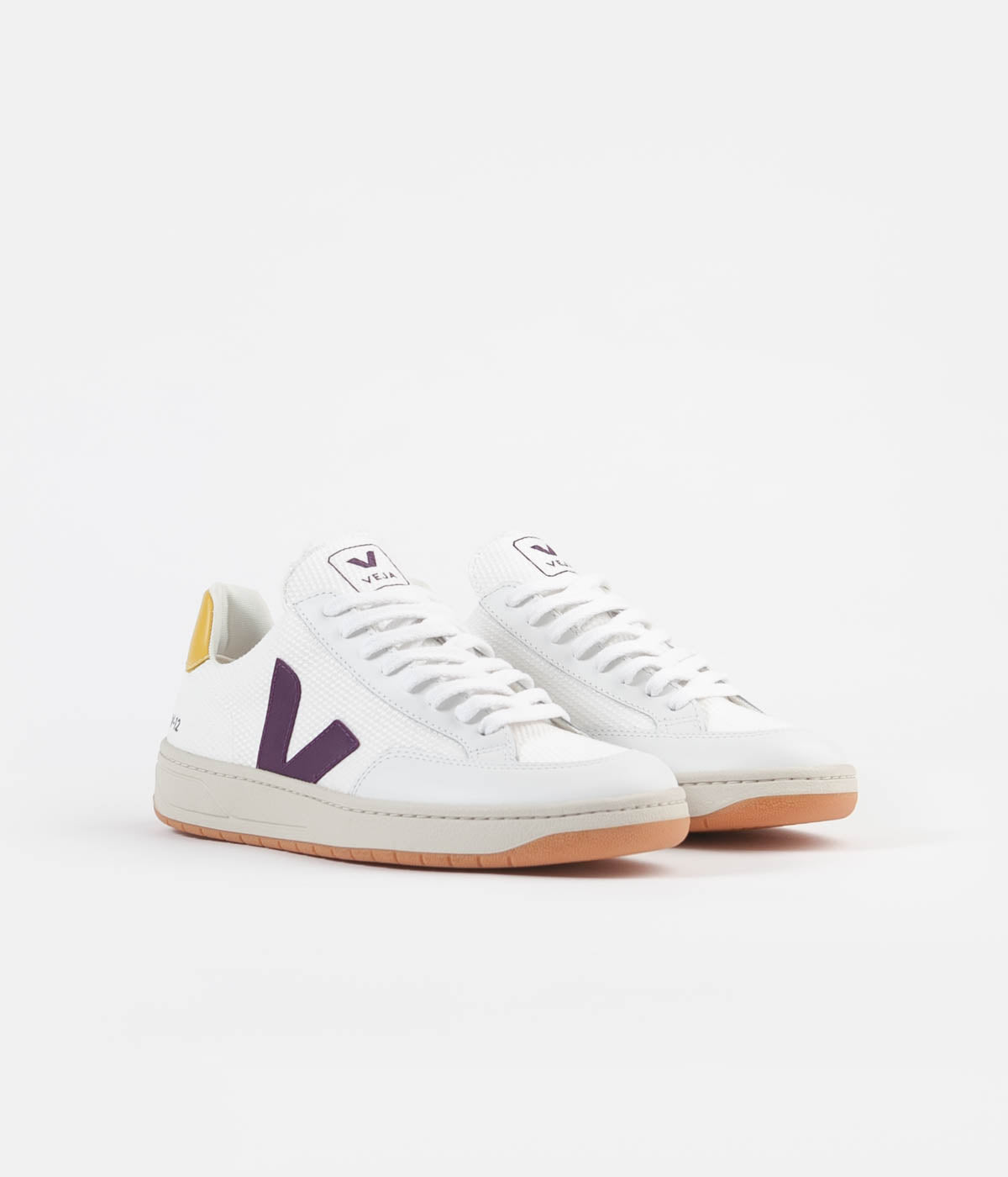 Veja V-12 B-Mesh Shoes - White / Berry / Gold / Yellow | Always in