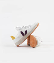 Veja V-12 B-Mesh Shoes - White / Berry / Gold / Yellow