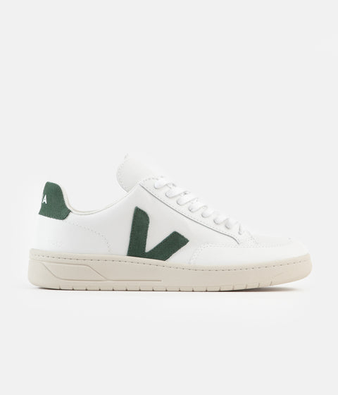 Veja V-12 Leather Shoes - Extra White / Cyprus