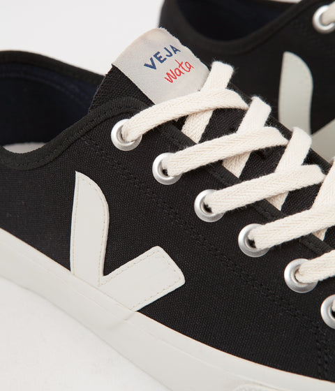 Veja Wata Canvas Shoes - Black / White