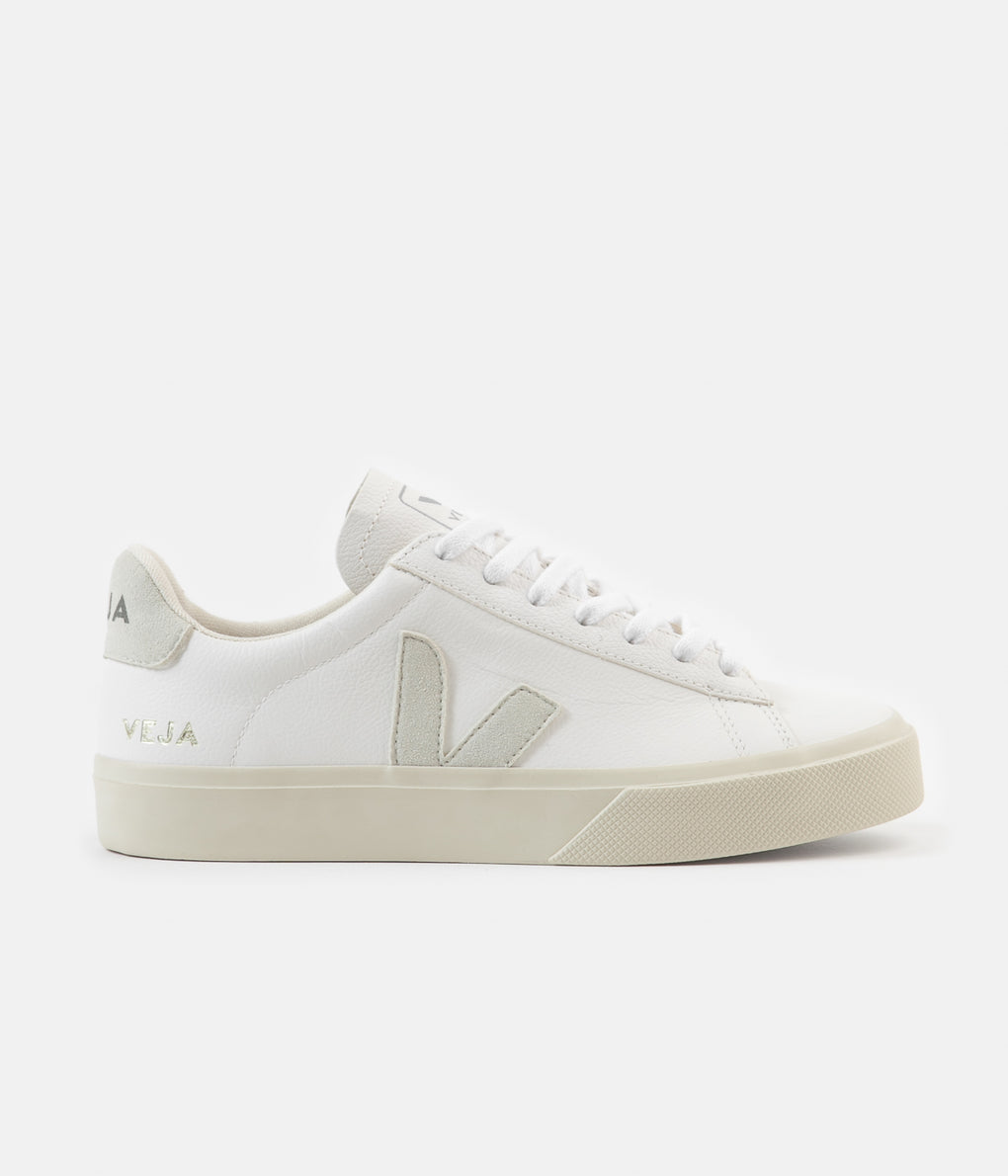 Veja Womens Campo ChromeFree Leather Shoes - White / Natural