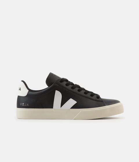 Veja Womens Campo ChromeFree Shoes - Black / White