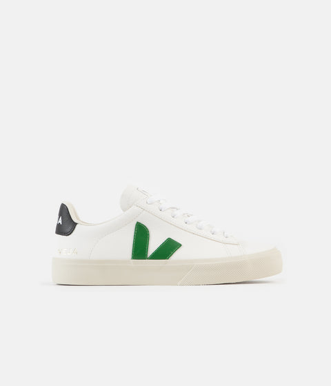 Veja Womens Campo ChromeFree Shoes - Extra White / Emeraude / Black