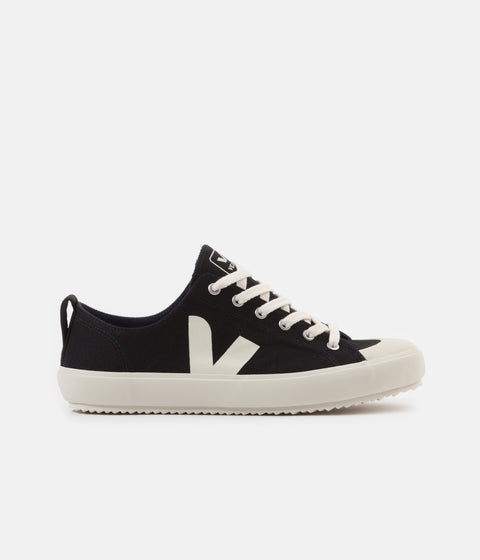 Veja Womens Nova Canvas Shoes - Black / Pierre