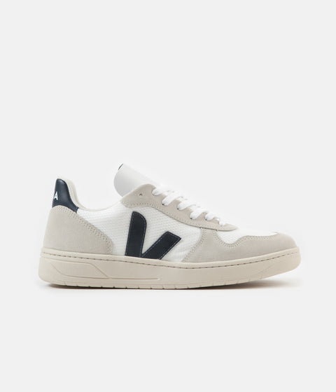 Veja Womens V-10 B-Mesh Shoes - White / Nautico