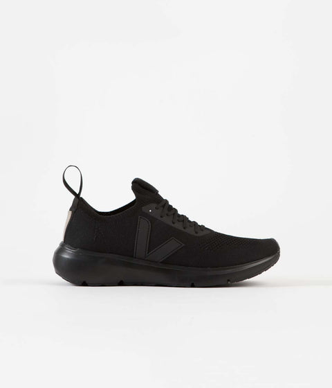 Veja x Rick Owens Womens Runner Shoes - Full Black