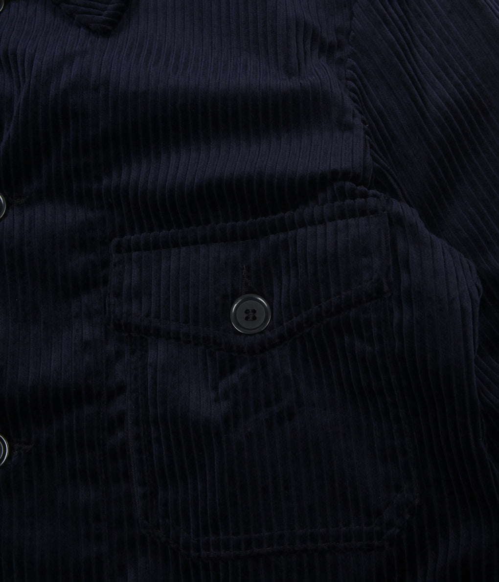 Vetra Wide Wale Corduroy Hunting Jacket - Navy