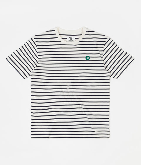 Wood Wood Ace T-Shirt - Off White / Navy