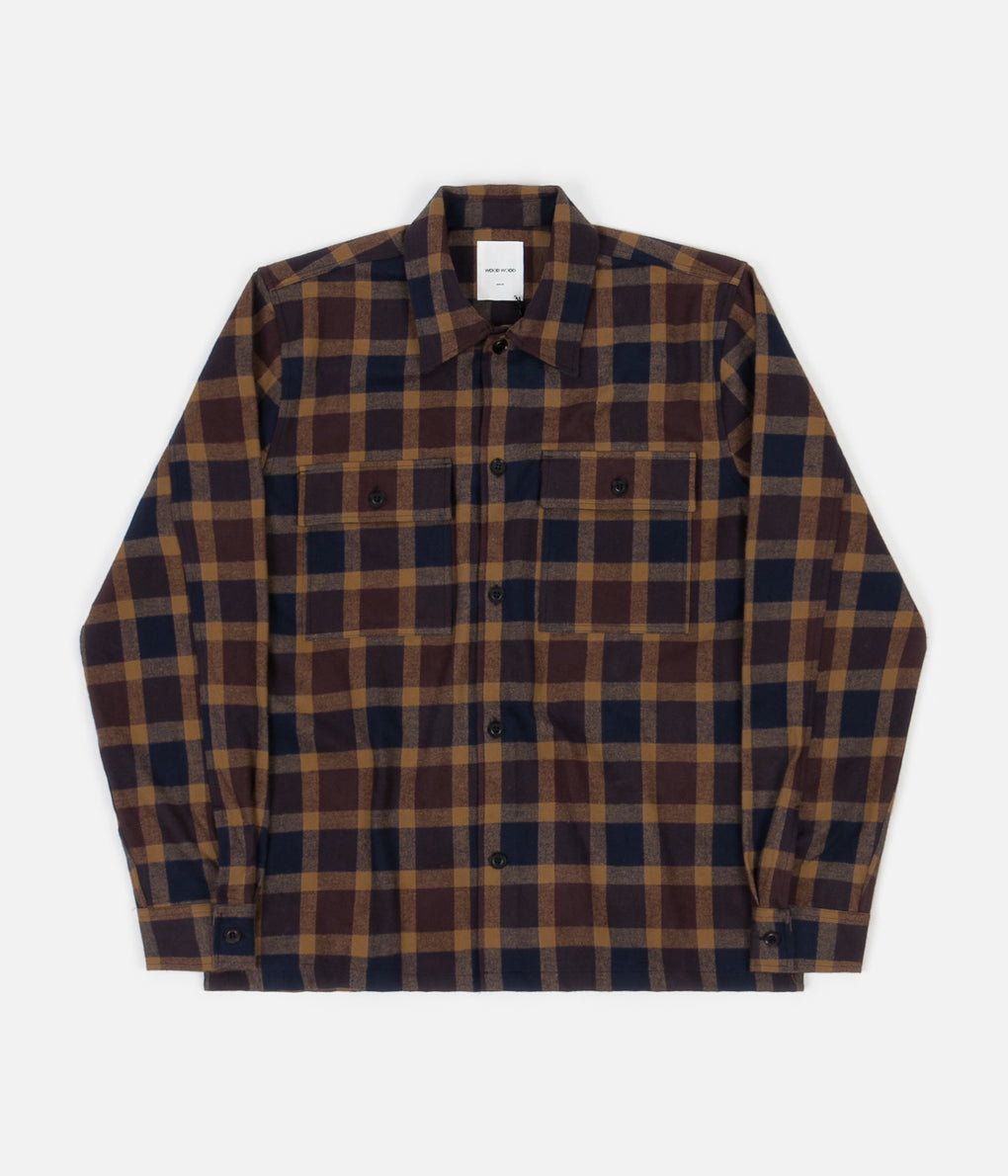 Wood Wood Franco Shirt - Navy Check