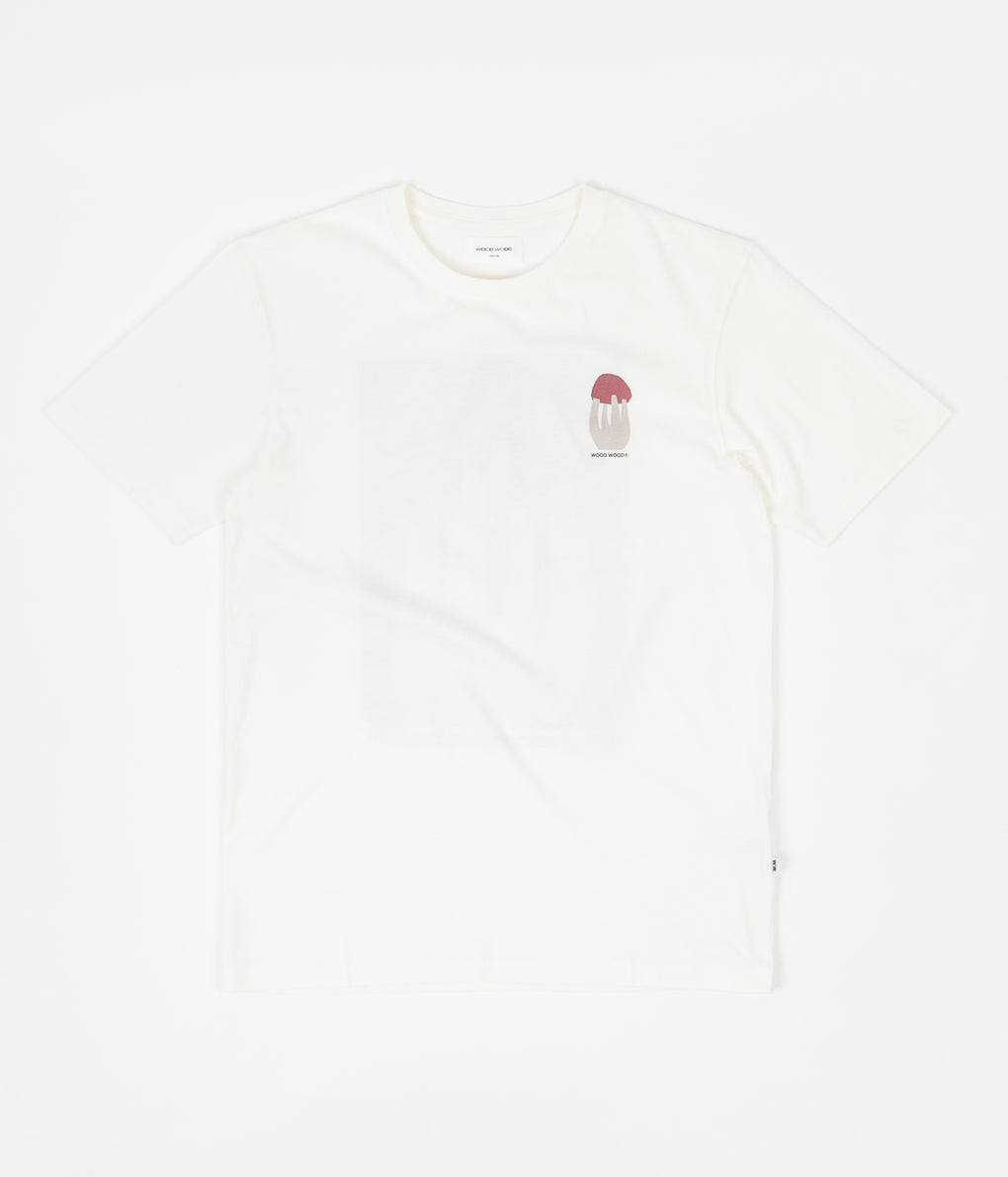 Wood Wood Sami Shroom T-Shirt - Off White