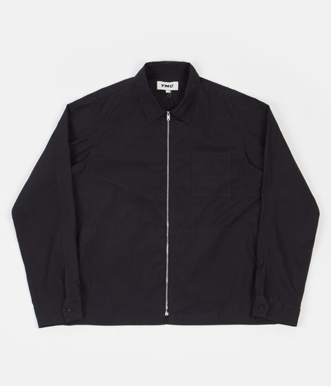 YMC Bowie Zip Shirt - Black