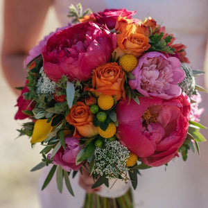 Bright Bridal Bouquet Mordialloc Florist. Photo by Jessica Abby Photography