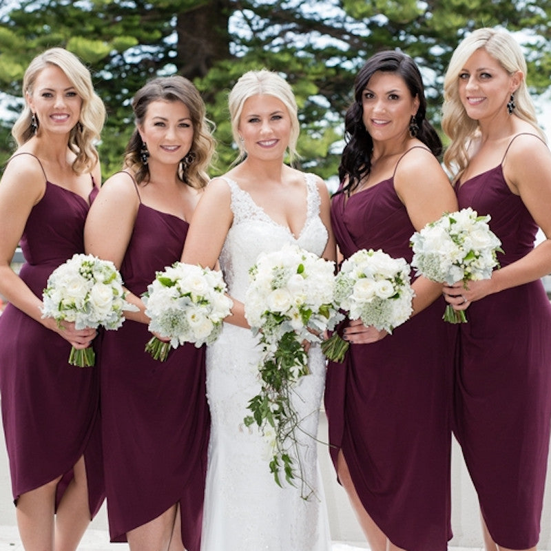 Bridal and Bridesmaids Bouquets by Mordialloc Florist. Photo by Sorrento Weddings Photography