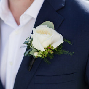 Button Hole Flowers by Mordialloc Florist. Photo by Sorrento Weddings Photography