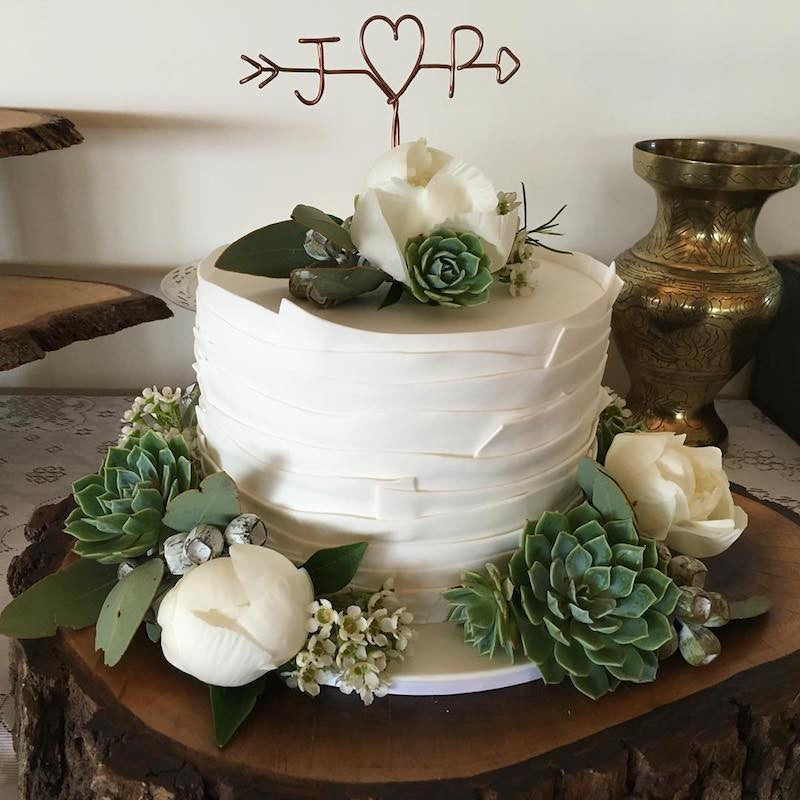 Cake Flowers and Succulents by Mordialloc Florist