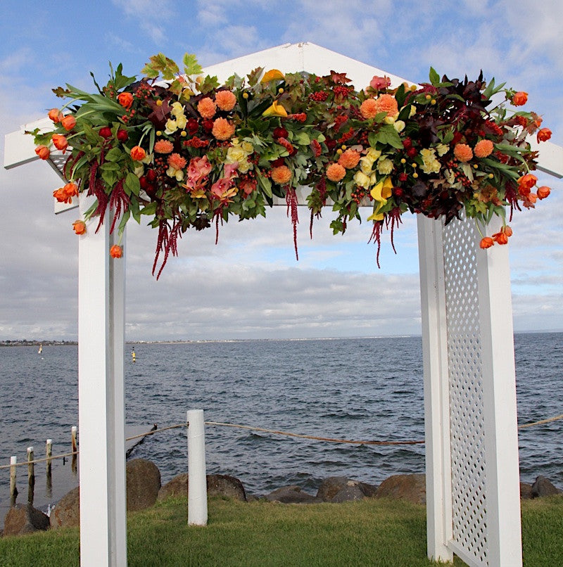 Floral Arch by Mordialloc Florist