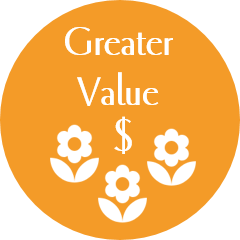 greater value flowers