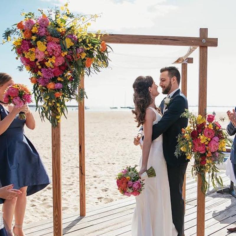 Wedding Arch Flowers Mordialloc Florist. Photo by Jessica Abby Photography