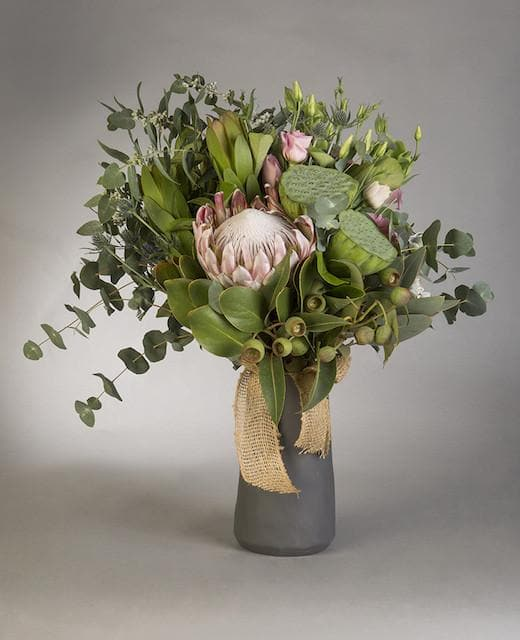 King Protea with a Touch of Softness Bouquet - Mordialloc Florist
