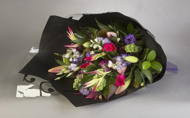 Hot Pink and Mixed Purple Bouquet Bouquet - Mordialloc Florist