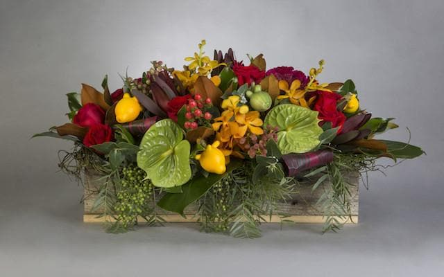 Autumn Talk of the Table Arrangement - Mordialloc Florist