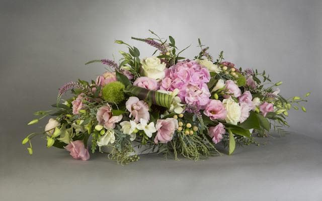 Pastel Talk of the Table Arrangement - Mordialloc Florist