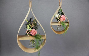 Real Florist. Real Flowers. Melbourne Online Delivery. Same Day | Stix and Flora - Teardrop Hanging Vase