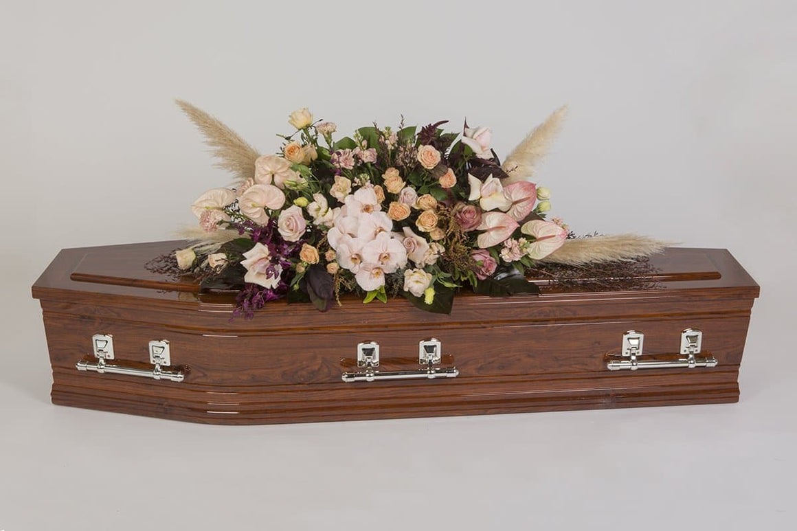 Real Florist. Real Flowers. Melbourne Online Delivery. Same Day | Beautifully Blush - Premium Casket & Coffin Flowers