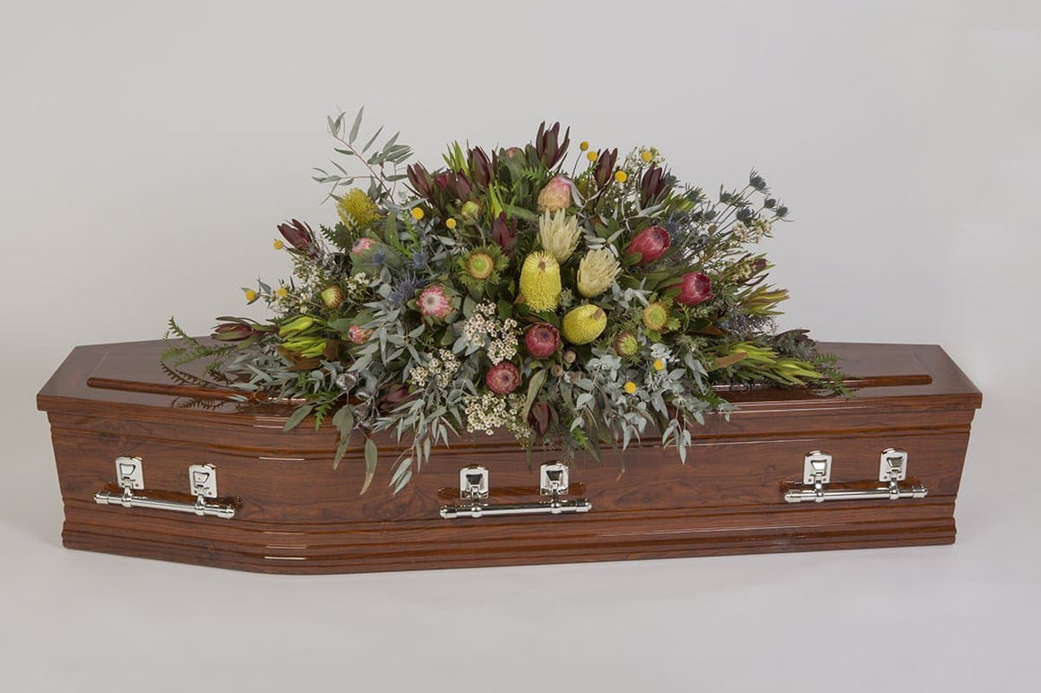 Real Florist. Real Flowers. Melbourne Online Delivery. Same Day | Rustic Respect - Premium Casket & Coffin Flowers