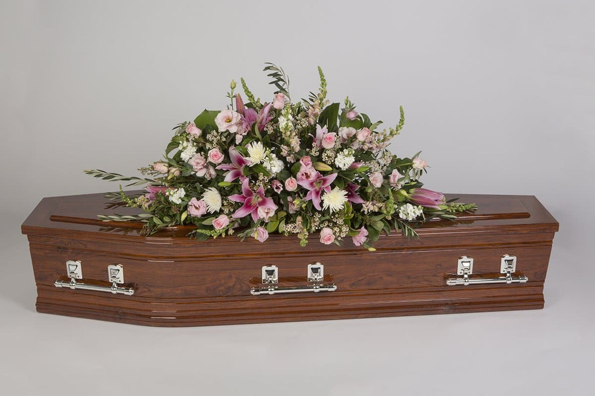 Real Florist. Real Flowers. Melbourne Online Delivery. Same Day | Seasonal Pastel - Premium Casket & Coffin Flowers