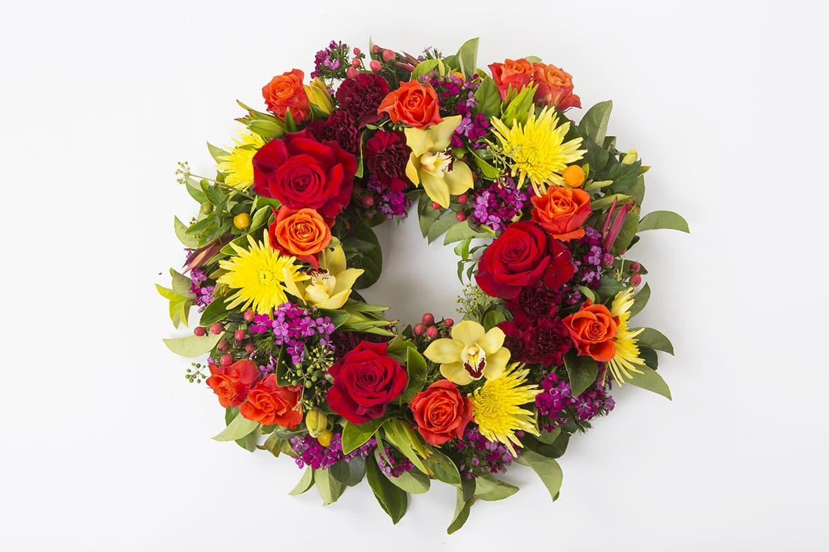 Real Florist. Real Flowers. Melbourne Online Delivery. Same Day | Bright Seasonal Premium Funeral Wreath