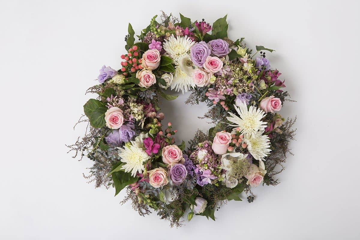 Real Florist. Real Flowers. Melbourne Online Delivery. Same Day | Pastel Mixed Premium Funeral Wreath