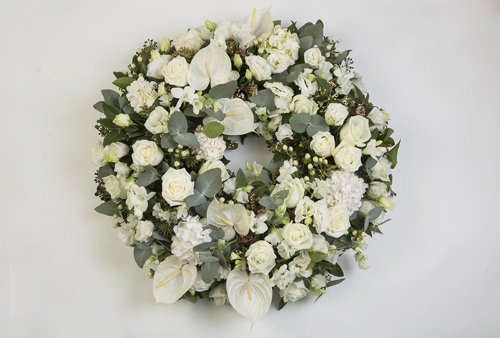 Real Florist. Real Flowers. Melbourne Online Delivery. Same Day | White n Green Premium Funeral Wreath