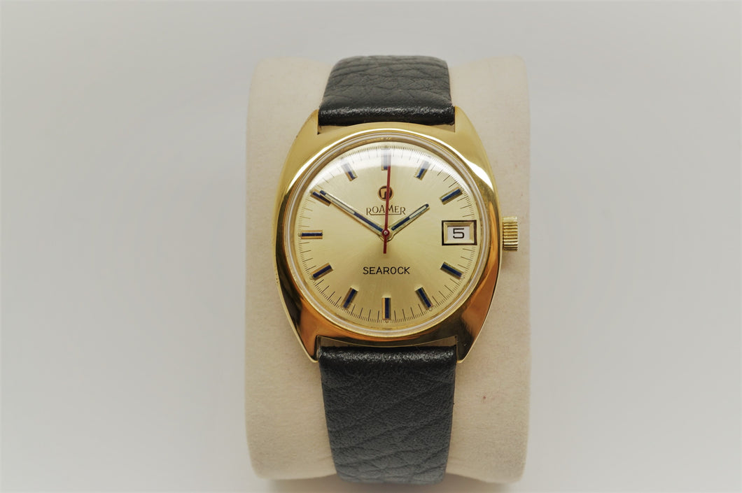 Roamer Searock - Swiss Wristwatch - Gold Plated - Manual Wind-Welwyn Watch Parts