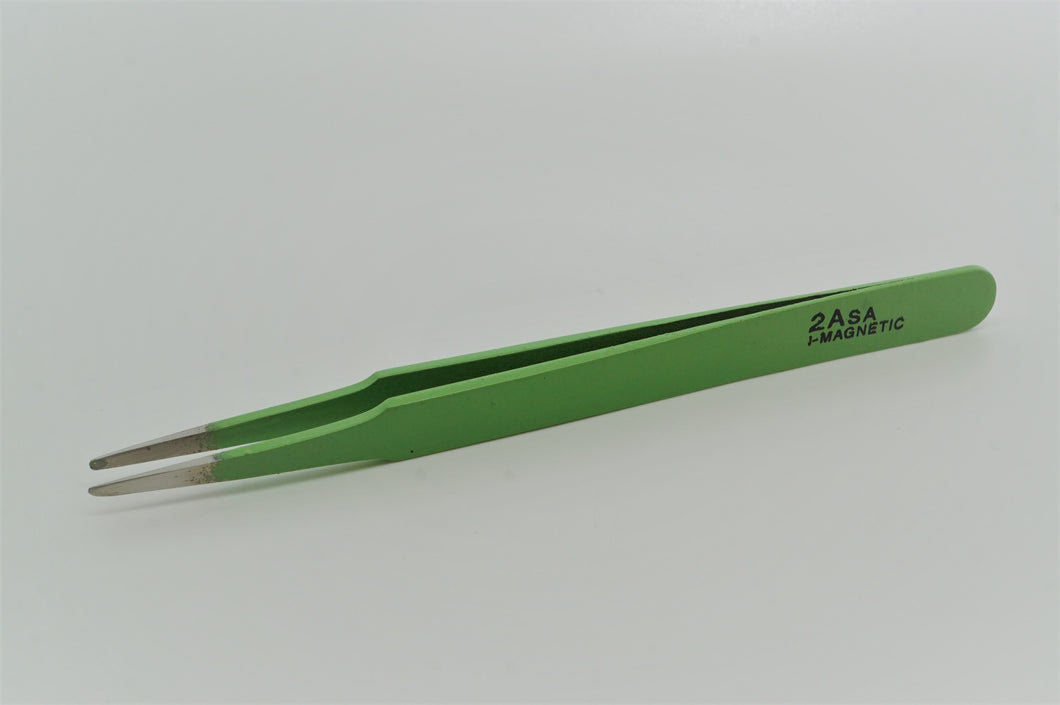 Watchmakers Tweezers - Epoxy Coated - Round Nose - 2A-Welwyn Watch Parts