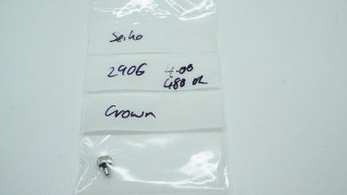 Seiko Genuine Crown - 2906 - 4.00mm-Welwyn Watch Parts