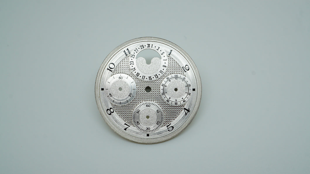 Silver Chrono Moonphase Dial - ETA 775X - Unknown Brand-Welwyn Watch Parts