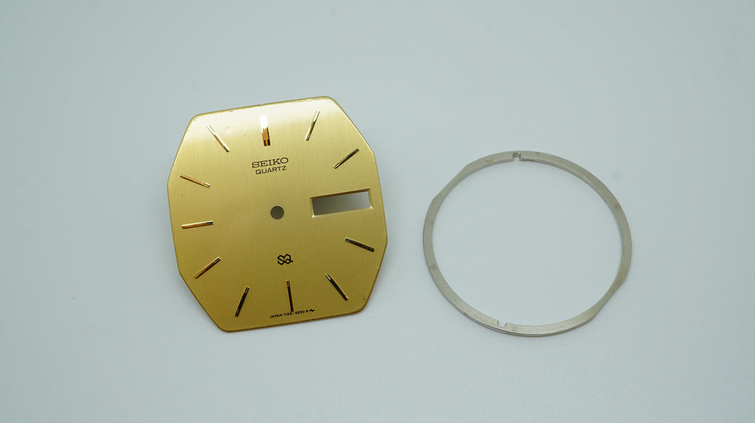 Seiko 7123-5239 Gold Dial & Plate - Used-Welwyn Watch Parts