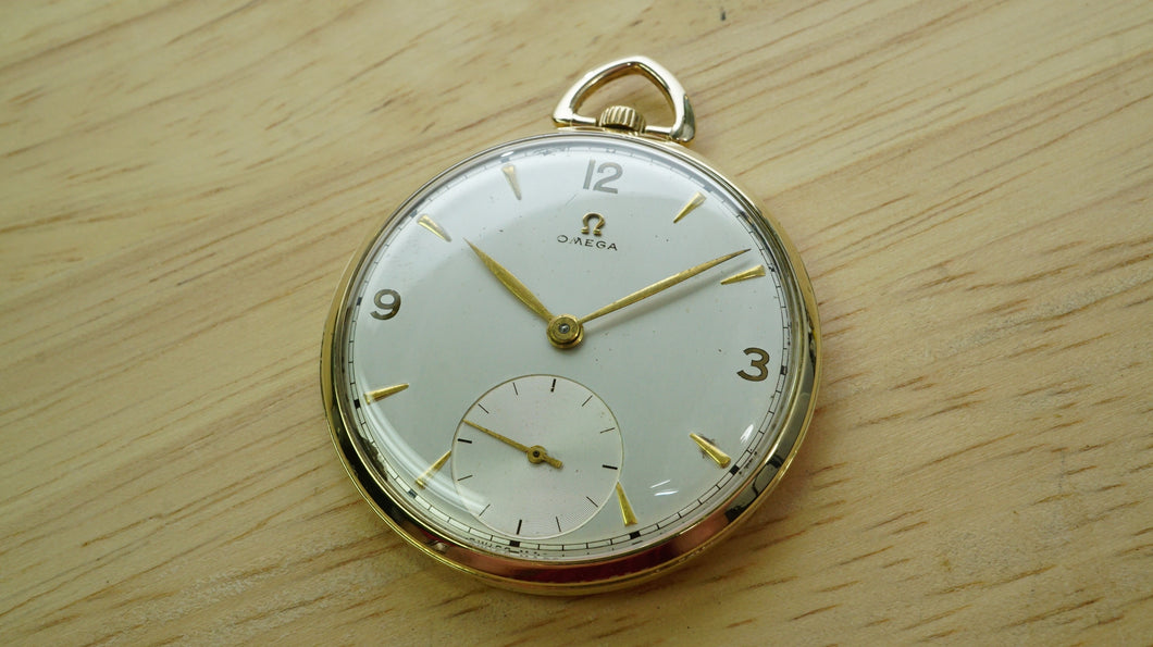 Omega Gold Pocket Watch - Wadsworth 80 Micron Plated - Cal 140-Welwyn Watch Parts