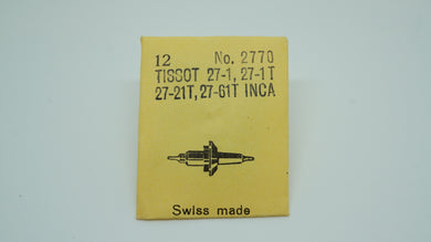 Tissot Cal 27-1/27-1T/27-21T/27-61T Inca - Balance Staff-Welwyn Watch Parts