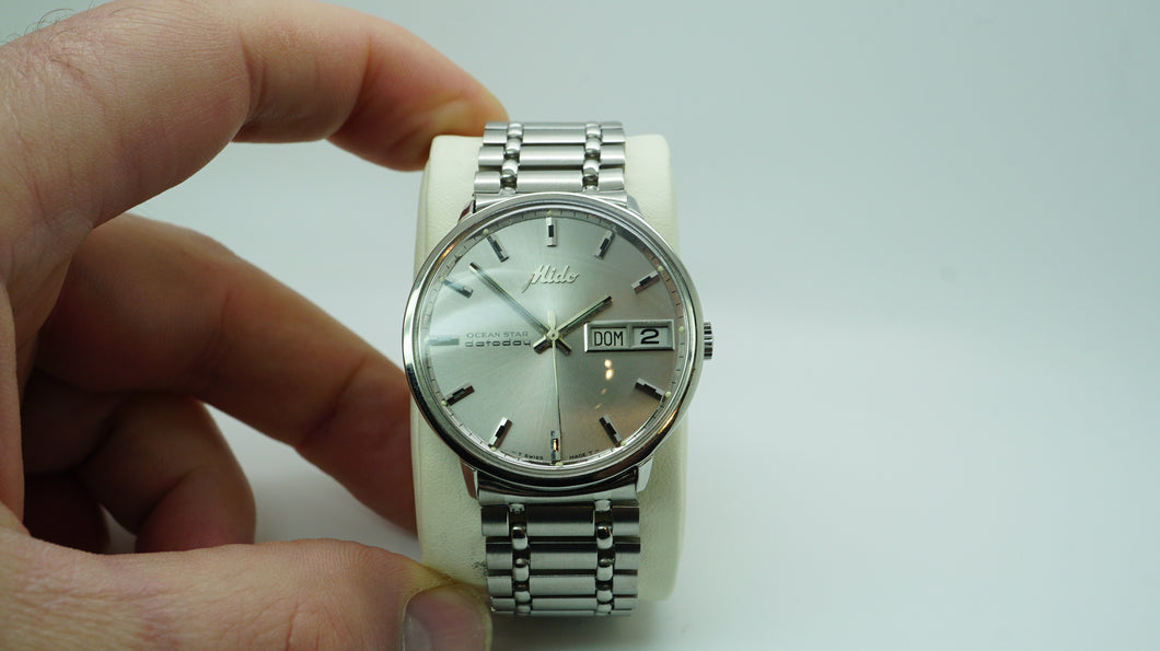 Mido Ocean Star Datoday Automatic Watch - Stainless Steel-Welwyn Watch Parts