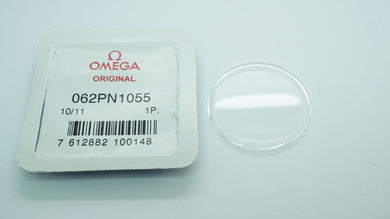 Omega Original Glass - 062PN1055 - Acrylic signed Glass - New/Open-Welwyn Watch Parts