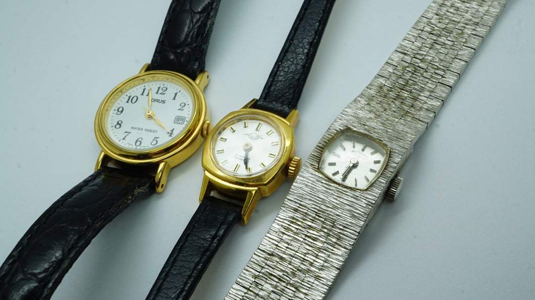3 x Small Ladies Watches - Spares & Repairs-Welwyn Watch Parts
