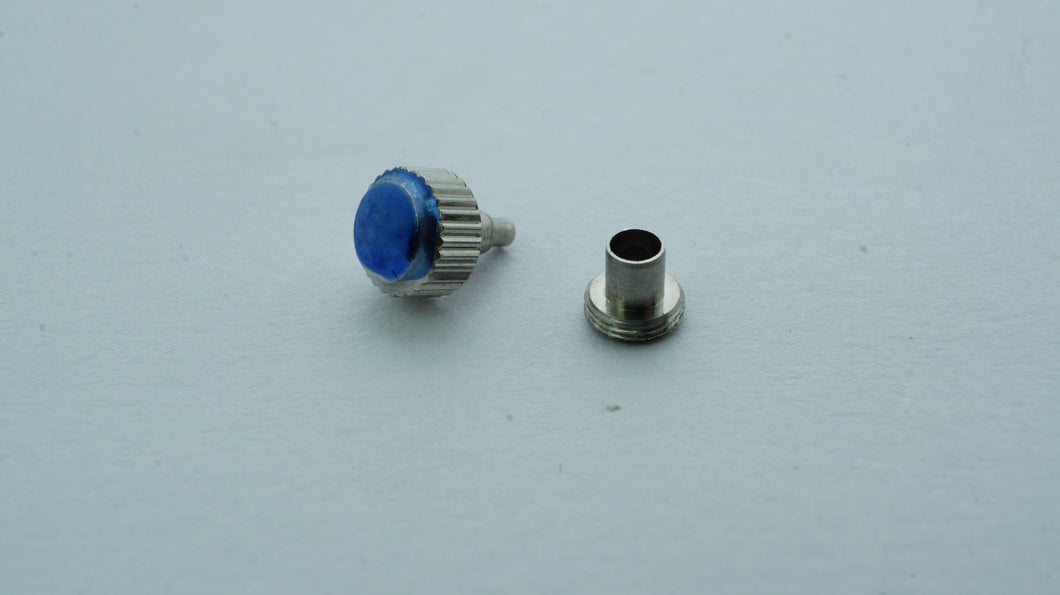 Stainless Steel Screw Down Crown with Tube - 4.5 x 2.0 x 3.5 x 0.25-Welwyn Watch Parts