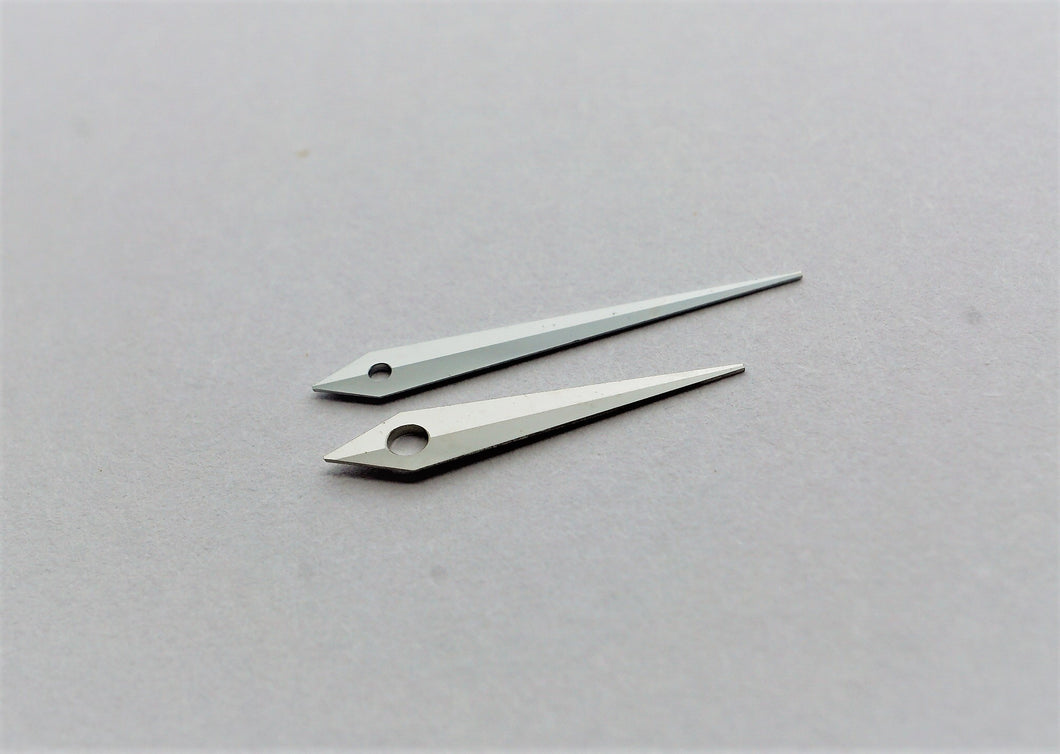 High Quality Diamond Cut Dolphine Hands - Chrome Finish-Welwyn Watch Parts