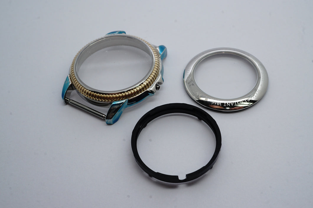 Tissot C279/379C Casing Complete - Stainless Steel & Gold PVD-Welwyn Watch Parts