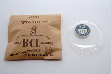 BCL Stability Low Dome Acrylic Glasses - NOS - Various Sizes-Welwyn Watch Parts