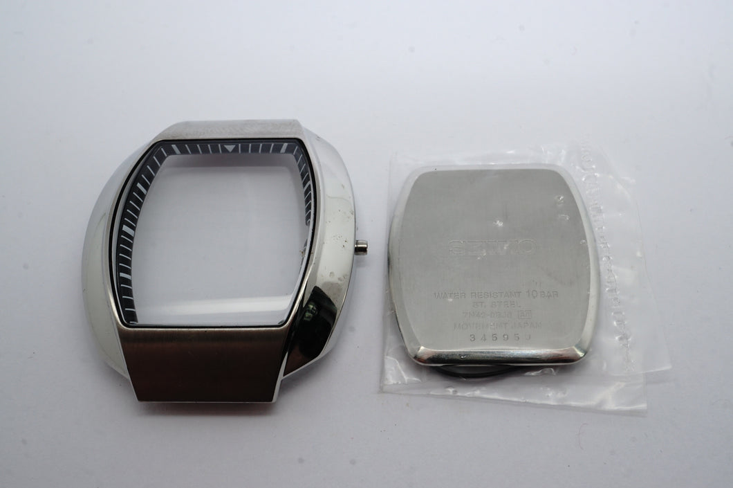 Seiko NOS Quartz Casing - Model 7N42-OBJO - Stainless Steel-Welwyn Watch Parts