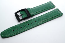 Swatch style Leather Strap - 21mm - Green Genuine Leather-Welwyn Watch Parts