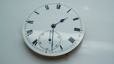 Early FHF Pocket Watch Movement with Dial & Hands-Welwyn Watch Parts